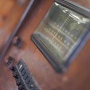 antique radio at Punch Bowl Market & Bakery