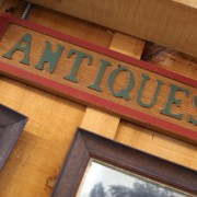 antiques sign at Punch Bowl Market & Bakery