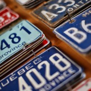 classic car tags from Punch Bowl Market & Bakery