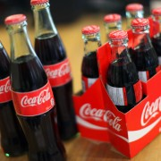 coca cola in bottles like the old days at Punch Bowl Market & Bakery