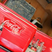 coca cola nostalgia coolers and wooden cases