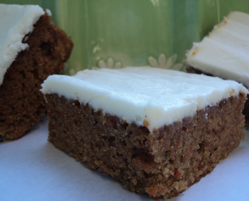 Punch Bowl Carrot Cake Squares